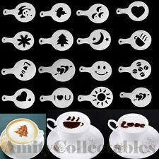 Set of 16 Coffee Hot Chocolate Cappuccino Stencils Template Barista