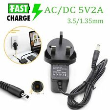 Universal DC 5V 2A Power Supply Adapter 100-240 AC Charger UK Plug 3.5/1.35mm