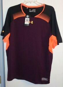 Under Armour Heat Gear training/casual t-shirt 3XL NWT maroon/orange/black