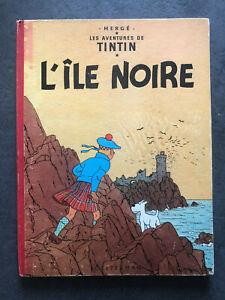 TINTIN L'ILE NOIRE  B26 Ter  1960  HERGE