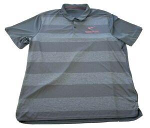 Washington State Cougars Nike Dri-Fit WSU Gray Striped Polo Shirt XL