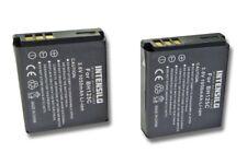 2x BATTERY INTENSILO 1050mAh for Samsung HMX-R10 / Pentax Optio X90