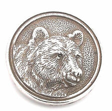 "Wildlife Concho Bear 1-1/8"" (29 mm) 7972-03 by Tandy Leather"
