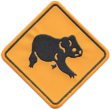 Australia Koala Bear Road Sign Embroidered Patch Badge