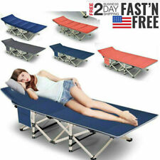 Heavy Duty Folding Bed Guest Twin Camping Cot +Mattress+Bag for Outdoor&Indoor