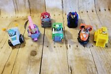 EUC Set Of 7 Paw Patrol Racers  Cars Rocky Marshall Skye Rubble Zuma LOT Toys
