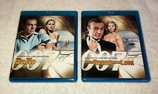 2 Piece James Bond Blu Ray Lot - Dr. No / From Russia with Love - Mint Discs