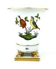 Herend porcelain Rothschild Bird VASO Artiglio Piedi dorati 18 cm due uccellini su rami