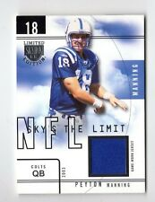 PEYTON MANNING NFL 2003 SKYBOX LE SKY'S THE LIMIT JERSEYS #/99 (COLTS,BRONCOS)