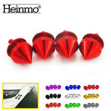 4pcs Red JDM Quick Release Fasteners For Car Bumpers Trunk Fender Hatch Lids Kit