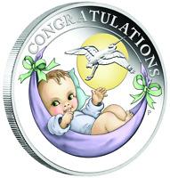 2018 Australia NEWBORN BABY 1/2 oz SIlver Proof 50c Coin Colorized