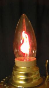 5 PACK FLICKER FLAME CLEAR LAMP LIGHT BULB 3w CA10 STANDARD BASE FIRE 1500 HOURS