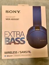 Sony MDR-XB950BT Extra Bass Headband Wireless Headphones - Blue