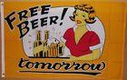 3' x 5' Free Beer Tomorrow Flag/Banner