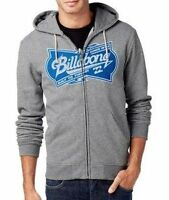 BILLABONG Kapuzenjacke Zip Hoody SANDERS ZH Frontprint grey heather M NEU