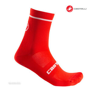 Castelli ENTRATA 9 Cycling Socks : RED - One Pair