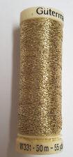 Gold Metallic Thread Gutermann Sparkling Effect Glitter Thread 50m Reel