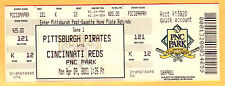 RARE 4/9/01 PIRATES FULL TICKET-FIRST GAME EVER PLAYED AT PNC PARK-OPENING DAY