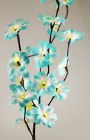 Tropical Aqua Blue Frangipani LED Light Stem Bunch Table Party Gift Centrepiece