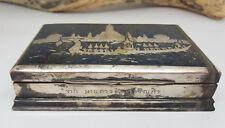VINTAGE SOLID SIAM SILVER CIGARETTE CASE BOX 285 G.