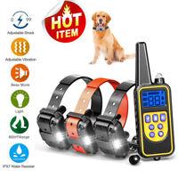 US 2600 FT Remote Dog Training Shock Collar Waterproof Hunting Trainer Anti Bark