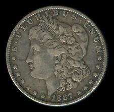 1887 US MORGAN LIBERTY 1 Dollar Silver Coin - Stock # 1