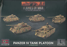 Flames of War Panzer IV (Late-War) Tank Platoon Singles