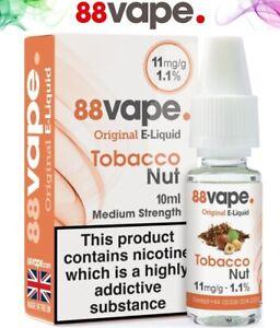 88 Vape E-Liquid 10ml Vaping Juice 11mg 16mg All Flavours UK Stock 10 & 20 Packs