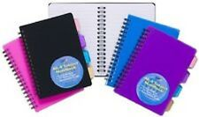 A6 Project Notepad Lined 100 Page Paper Notebook 4 Part Subject Dividers Tiger