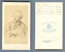 Scheffer, peintre d'après dessin Vintage albumen  Carte de Visite, CDV,