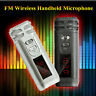 Mini Portable Wireless FM Condenser Microphone Handheld Mic For Speaker Teacher