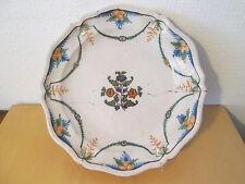 Plat faience XVIII 18 siecle Meillonnas céramique française