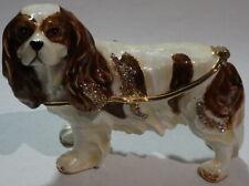 king Charles cavalier spaniel dog trinket box, collectibles, decorative