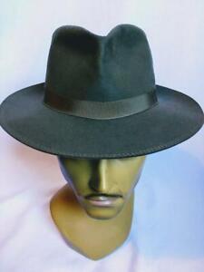 Vintage Borsalino Grand Prix 1900 felt fur Trilby hat Grey size 6 5/8  54cm S