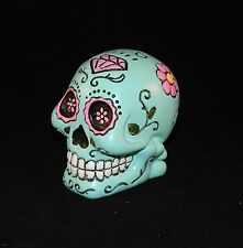 """Sugar Skull Statue 5"""" Figurine Day of the Dead Choose from 3 Colors"""