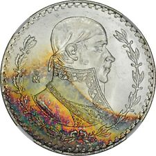 1962 Mo Mexico Peso NGC MS65* star toned obverse star coin