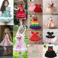 Infant Kid Girl Dress Lace Flower Baby Princess Pageant Party Bridesmaid Dresses