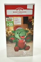 Baby Dragon Airblown Inflatable Christmas Outdoor Decoration Holiday Time GEMMY