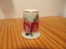 Porzellan-Fingerhüte mit Rosen-Fingerhut