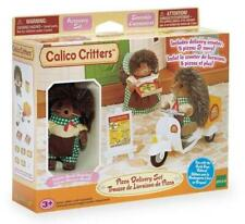 Calico Critters Pizza Delivery Set Harold Pickle Weeds Hedgehog Retired