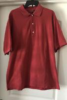 EUC Greg Norman Red Men's Short Sleeve Tennis Golf Sport Polo Shirt XL