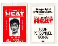 Vintage Anita Baker Backstage Pass Laminate - 1988-89 The Heat Tour