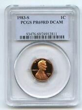 1983 S 1C Lincoln Cent Proof PCGS PR69DCAM