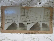 """Antique Vintage Griffith & Griffith Stereo View Card - """"Kaiser Willian Bridge"""""""