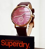 New SUPERDRY Ladies Watch Brown Leather strap IDEAL GIFT for Her ! RRP £89