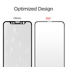 2x Premium Full Cover Edge to Edge Tempered Glass Screen Protector For iPhone X