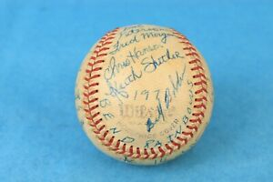 VTG 1971 BEND RAINBOWS NORTHWEST LEAGUE MLB KURT RUSSELL & TEAM SIGNED BASEBALL