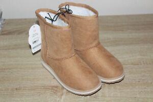 NEW Wonder Nation Faux Fur Shearling Boots Toddler Girl's Chestnut