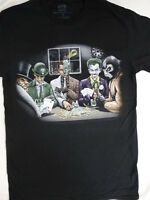 Penguin Joker,Two Face, Riddler, Bane Playing Poker Villians Dc Comics T-Shirt