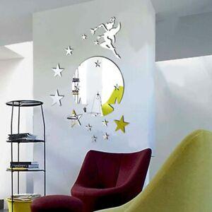 Fairy Angel 3D Mirror Wall Stickers Decal Art Mural Home Room DIY Decor 8C